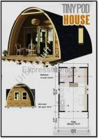 New bamboo cave pods 375 sqft. fully furnished resort beach estate pods installed in 4 to 6 weeks.