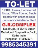1BHK houses and commercial shops for rent