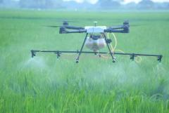 Agricultural drone for pesticide fertilizers and seeds