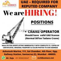 Job for Crane operator in UAE