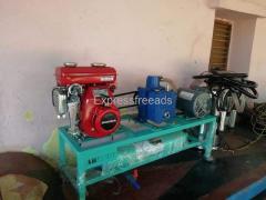 Electric cum petrol operated Milking machine installed Tumkur.